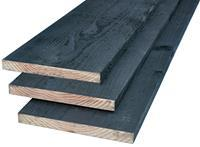Woodvision Potdekselplank Douglas 22 x 200 Zwart geïmpregneerd 300 cm