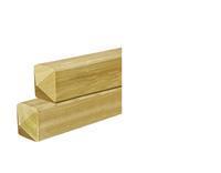 Woodvision Tuinhout paal ME Vuren 67 x 67 mm Sc. 300 cm