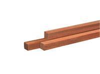 Woodvision Hardhouten paal Azobe 65 x 65 mm 275 cm
