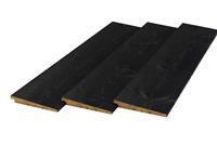 Trendhout Zweeds rabat lariks douglas zwart 1,2/2,5 x 19,5 cm (4,00 mtr) gezaagd