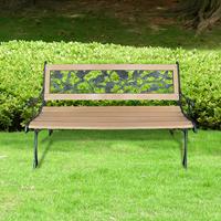 VidaXL Tuinbank met rozenmotief hout