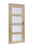 Woodvision Glasdeur 4-ruits Linksdraaiend Blank
