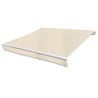vidaXL Canvas zonneschermdoek met luifeltje 3 x 2,5 m crème exclusief frame