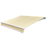 vidaXL Zonneschermdoek canvas zonder frame 3x2,5 m geel en wit