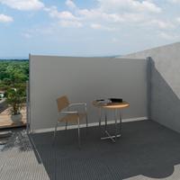 VidaXL Wind-/zonnescherm uittrekbaar 160x300 cm crme