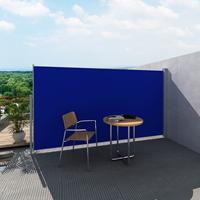 VidaXL Uittrekbaar wind-/zonnescherm 160x300 cm blauw