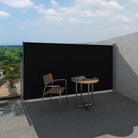 VidaXL Uittrekbaar wind-/zonnescherm 160x300 cm zwart