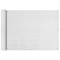 VidaXL Balkonscherm HDPE 75x400 cm wit