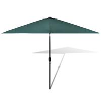VidaXL Parasol met stalen paal 3 m groen