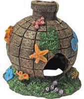 Gebr. de Boon - Polyresin ornament bom met begroeiing 13x14 cm