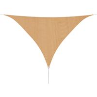 Zonnescherm HDPE driehoekig 3,6x3,6x3,6 m beige