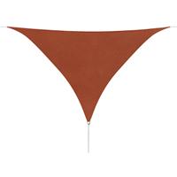 Zonnescherm driehoekig 3,6x3,6x3,6m oxford stof terracottakleur