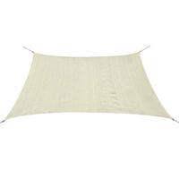 vidaXL Zonnescherm vierkant 3,6x3,6 m HDPE crème