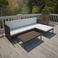 9-delige Loungeset poly rattan bruin