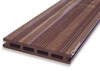 Elephant Vlonderplank composiet 2,1 x 14,5 cm bruin (2,25 mtr) vlak en fijne ribbel (set van 4 planken)