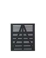 Tuindeur vuren Silence louvre recht zwart (100 x 110 cm)