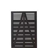 Tuindeur vuren Silence louvre recht zwart (100 x 140 cm)