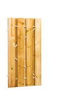 Woodvision Plankendeur grenen op stalen frame 100x200