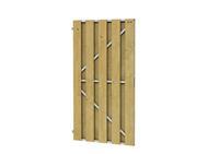 Deurframe met planken verticaal 100 x 200 cm Uitgefreesd slotgat