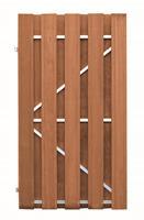 CarpGarant Frame deur bangkirai deluxe 180x100 cm verticaal linksdraaiend