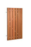 Woodvision Plankendeur hardhout op verstelbaar stalen frame Verticaal