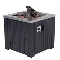 Cozy Living sfeerhaard Faro 80x80 cm - zwart