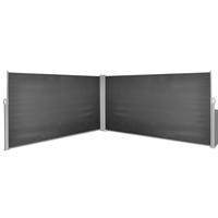 VidaXL Windscherm uittrekbaar 160x600 cm zwart