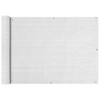VidaXL Balkonscherm HDPE 75x600 cm wit