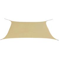 VidaXL Zonnescherm rechthoekig 2x4 m oxford stof beige