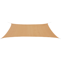 VidaXL Zonnescherm HDPE rechthoekig 4x6 m beige