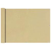 Balkonscherm Oxford textiel 75x400 cm beige