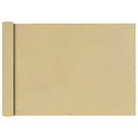 VidaXL Balkonscherm Oxford textiel 75x600 cm beige
