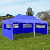 VidaXL Partytent pop-up 3x6 m blauw
