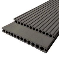 DuoWood Vlonderplank composiet 2,5 x 25 cm XWB Lava (3 mtr) vlak en grove ribbel