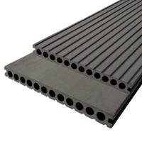 DuoWood Vlonderplank composiet 2,5 x 25 cm XWB Lava (4 mtr) vlak en grove ribbel