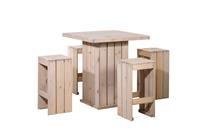 Woodvision Toulouse barstoel 40x40x80 cm - licht grijs