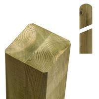 Plus Danmark Paal vuren 9 x 9 cm groen geimpregneerd (97 cm) met ongepunte en afgeronde kant geschaafd