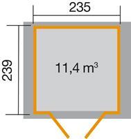 Tuinhuis 224 Gr.3 235x239 cm