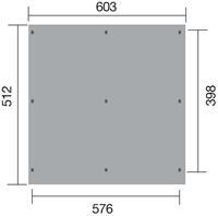 Carport 618 Gr.1 Dubbel 576x398 cm