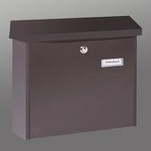 Burgwächter Eenvoudige stalen brievenbus AMSTERDAM bruin