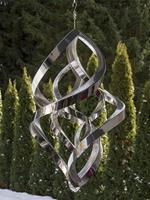 HO-Jeuken Windspel RVS double bold 9, 58 cm.