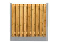 Hillhout Beton tussenpaal Glad Grijs 180 cm (scherm 90/100 cm)