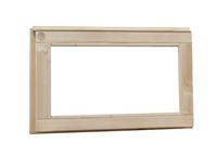 Woodvision Vast raam met melkglas
