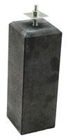 Hillhout Betonpoer met facetrand 18 x 18 cm voor paal 14-15 cm Inclusief stelplaat
