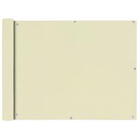 VidaXL Balkonscherm oxfordtextiel 90x600 cm crmekleurig