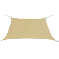 VidaXL Zonnescherm vierkant 3,6x3,6 m oxford stof beige