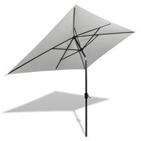 vidaXL Parasol vierhoekig zandwit 200 x 300 cm