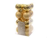 Kerstbal plastic glans-mat/40mm/licht goud