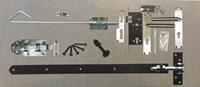 Trendhout Beslagset zwart opgeklampte deur dubbel XL