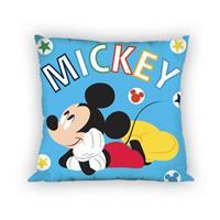 Disney kussen Mickey Mouse 35 x 35 cm blauw